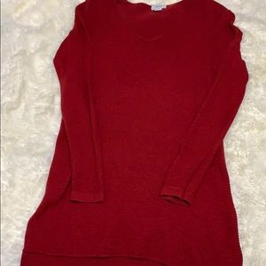 Old Navy textured tunic v-neck sweater